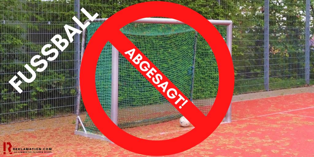 Coronakrise - Fussballspiel Kein Zutritt - Geld zurück